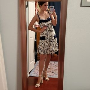 Tanya Taylor blue and white floral silk dress 2